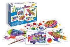 Оцветявай с акварелни бои - В полет - Творчески комплект за рисуване - играчка