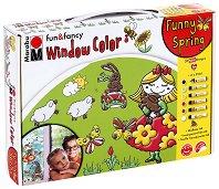"""Трансферни бои за стъкло - Funny Spring - Комплект от 6 цвята x 25 ml от серията """"Fun&fancy"""""""