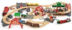 Светът на влакчетата - Дървена играчка с аксесоари -