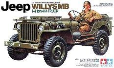 Военен джип - Jeep Willys MB - Сглобяем модел -
