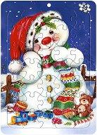 """Коледна колекция: Снежен човек - Пъзел в картонена подложка - """"Златното пате"""" - пъзел"""