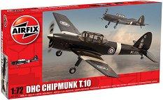 Военен самолет - De Havilland Chipmunk - Сглобяем авиомодел - макет
