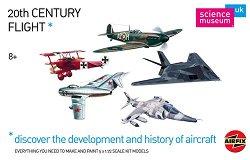 Емблематични самолети от 20 век - Комплект от 5 броя сглобяеми авиомодели -