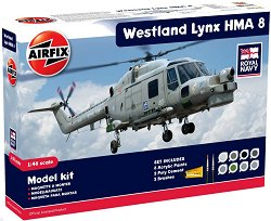 Военен хеликоптер - Westland Lynx HMA8 - Сглобяем авиомодел - комплект с лепило и боички - макет