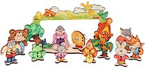 Куклен театър - Дървен конструктор за оцветяване - хартиен модел