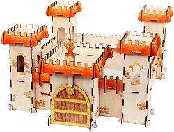 Крепост - Дървен конструктор за оцветяване - хартиен модел