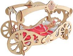 Легло за принцеси - Дървен конструктор за оцветяване -