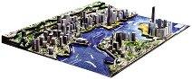 """Хонконг, Китай - 4D пъзел от серията """"Cityscape - History Over Time"""" - пъзел"""