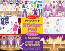 Блокче със стикери за многократна употреба - Преобличане - играчка