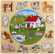 Фермата - Дървен образователен пъзел - пъзел