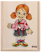 Облечи момичето - Дървен пъзел -