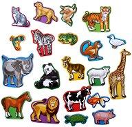 Животни - Дървени фигури с магнит - детски аксесоар