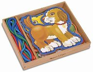 Дървени животни - Комплект фигури за нанизване - играчка
