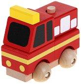 Пожарна кола - Дървен конструктор -
