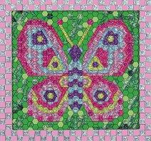 Създай сам мозайка със стикери - Пеперуда - Творчески комплект - творчески комплект