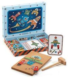 Дървен конструктор - Космос - играчка