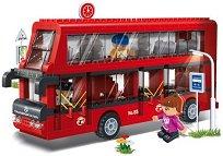 Двуетажен автобус - Детски конструктор - играчка