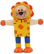 Дървено животинче - Лъвче - С подвижни елементи - играчка