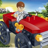 Ретро автомобил - Детски конструктор - играчка