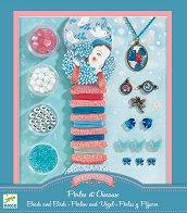 Създай сама бижута - С перли и птици - Творчески комплект - играчка