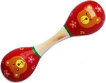 Детски двоен маракас - Мече - играчка