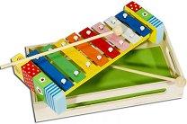 Ксилофон  - Цвете - В дървена кутия - играчка