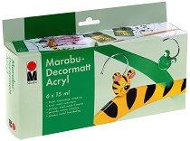 Матови акрилни бои - Decormatt - Комплект от 6 цвята x 15 ml