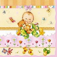 Салфетки за декупаж - Бебе - Пакет от 20 броя