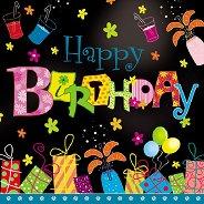 Салфетки за декупаж - Честит рожден ден!