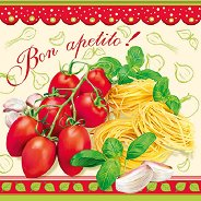 Салфетки за декупаж - Bon Apetito! - Пакет от 20 броя