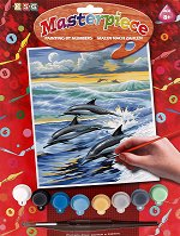 Нарисувай сам шедьовър - Делфини - Творчески комплект - продукт