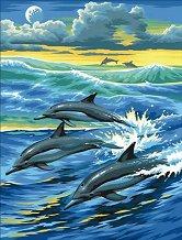 Нарисувай сам шедьовър - Делфини - творчески комплект
