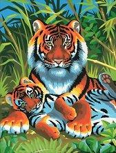 Нарисувай сам шедьовър - Тигри - Творчески комплект - продукт