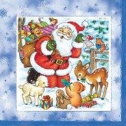 Салфетки за декупаж - Дядо Коледа - Пакет от 20 броя