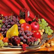 Салфетки - Поднос с плодове