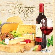 Салфетки за декупаж - Formaggio - Пакет от 20 броя