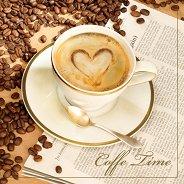 Салфетки за декупаж - Време за кафе - Пакет от 20 броя
