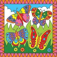 Оцветявай по номера - Пеперуди и езеро с лилии - играчка