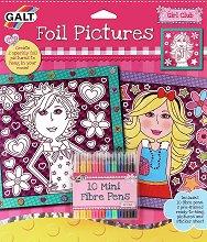 Оцвети сама - картини от фолио - Творчески комплект -