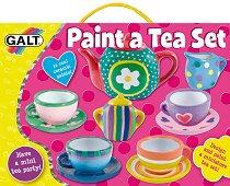 Нарисувай сам - Сервиз за чай - Творчески комплект за рисуване - играчка