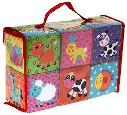 Меки кубчета - Животни - Играчка за бебе - образователен комплект