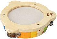 Тамбурина - Детски дървен музикален инструмент - играчка