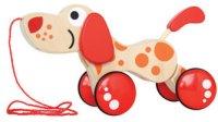 Куче - Дървена играчка за дърпане -