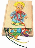 Облечи Боб - Дървена играчка за нанизване - играчка