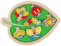 Веселите буболечки - Дървена играчка за нанизване - играчка
