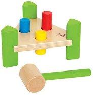 Малък майстор - Дървена играчка с чукче - играчка