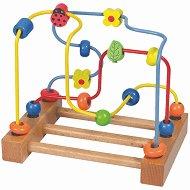 """Цветна градинка с калинка - Дървена играчка от серията """"Лабиринт"""" - играчка"""