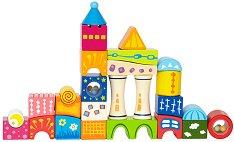 Дървен замък - Детски строител с блокчета - фигура