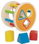Въртележка с цветове и форми - Дървена образователна играчка - играчка