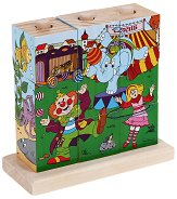 """Нанижи кубчетата - Дървена играчка от серията """"Цирк"""" -"""